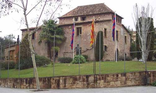 Imagen de La Masía, la vieja casona del Siglo XVIII, en las inmediaciones del Camp Nou.