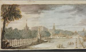 «El Paseo del Prado y el Paseo de Recoletos desde la Fuente de los Cuatro Estaciones», obra de Antonio González Velázquez