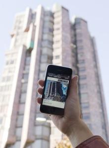 Ejemplo de realidad aumentada en el móvil. GIANLUCA BATTISTA
