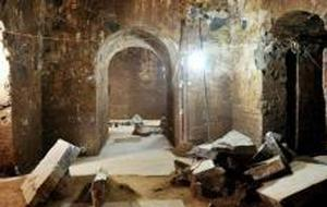 AFP Imagen del interior del mausoleo donde los arqueólogos creen haber encontrado los restos de Cao Cao