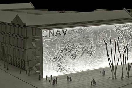 Maqueta del proyecto ganador del Centro Nacional de Artes Visuales cuya adjudicación fue polémica.-