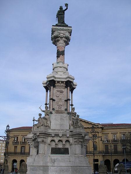 Monumento a los Fueros en Pamplona - Navarra
