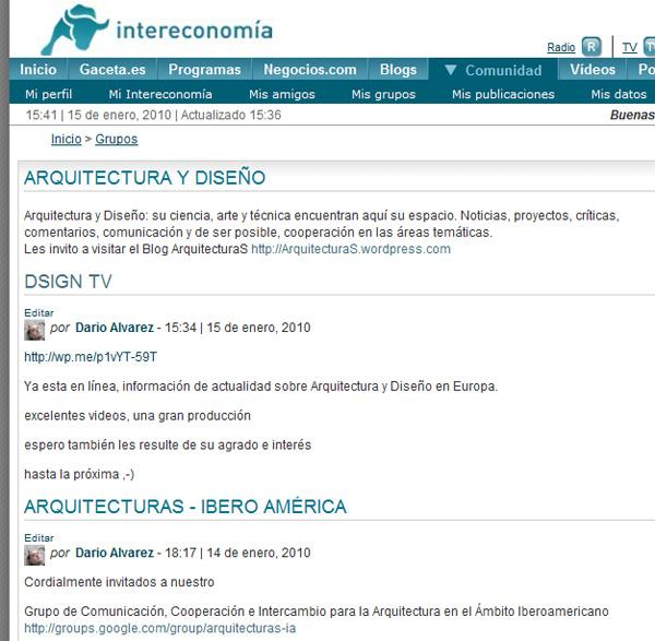 Grupo Arquitectura y Diseño en Gaceta.es