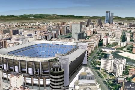 Vista del estadio Santiago Bernabeu, uno de los edificios que se pueden ver en Google Earth. GOOGLE