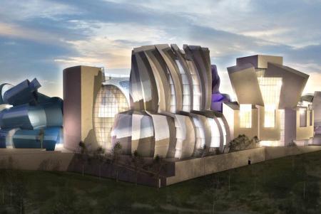 Proyecto de Frank Gehry para el Museo de la Tolerancia en Jerusalén.-