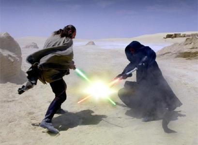 Una escena de la película 'La amenaza fantasma' rodada en Túnez.
