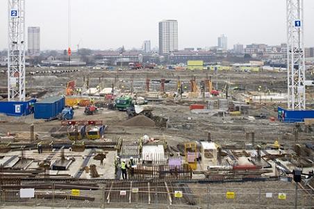 Obras de construcción de la Villa Olímpica londinense. | London2012.com