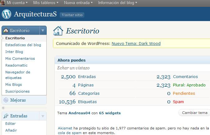 2.500 entradas en mi Blog - blog.darioalvarez.net