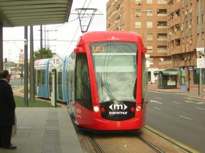 """Metro ligero de Murcia, """"tranvimur"""", España"""