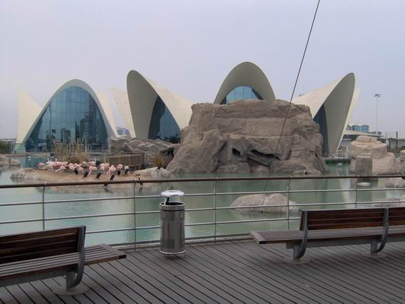 Restaurante del Parque Oceanográfico, Valencia, España. Obra de Félix Candela