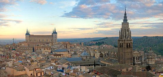 Vista panorámica del casco histórico de Toledo. Foto: Wikipedia