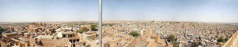 Panorama of Jaisalmer from top of Maharaja  - Wikipedia