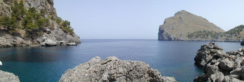 Cala de la costa occidental de Mallorca (Sa Calobra) Foto: Wikipedia