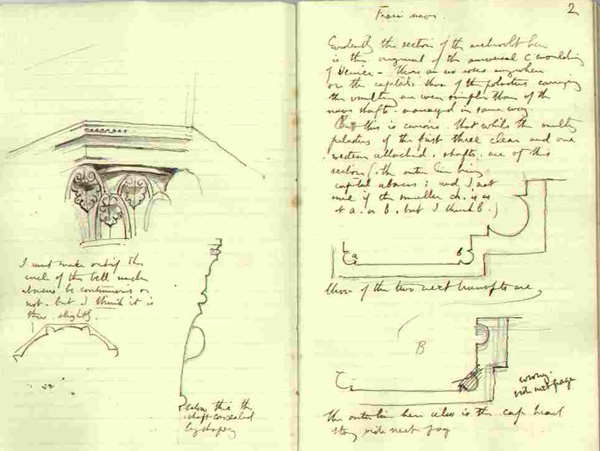 from Ruskin´s Gothic Notebook