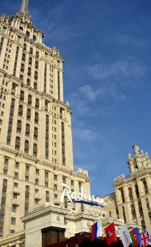 Con sus 206 metros de alto, llegó a ser el hotel más alto de Europa. :: EFE