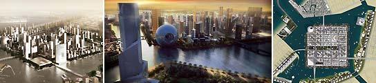 Uno de los proyectos del arquitecto Rem Koolhaas en Dubai, en este caso una isla ecológica con capacidad para un millón de personas, presentado en 2008. (Imagen: ARCHIVO)