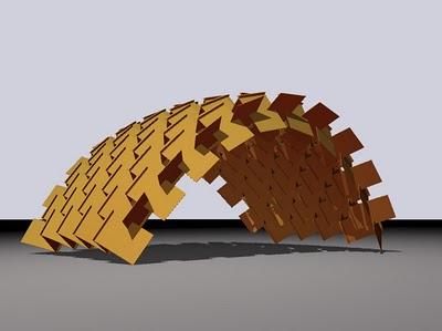 El sistema se basa en la sub-división de planchas industriales, que pueden ser de madera reconstituida, fibro-cemento, plástico, cartón o metal, dependiendo de las terminaciones y durabilidad requerida.