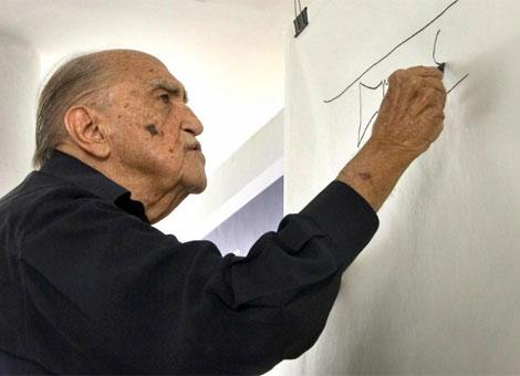 El arquitecto brasileño de 102 años Oscar Niemeyer. Foto: ElMundo.es