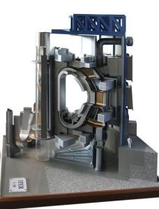 Sección del interior de la máquina. Vista de maqueta a escala. Wikipedia.