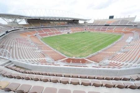 El futuro del estadio de Polokwane, alejado de las grandes vías de comunicación, es un acertijo de difícil resolución | DPA - Foto: Canchallena / LaNacion.com
