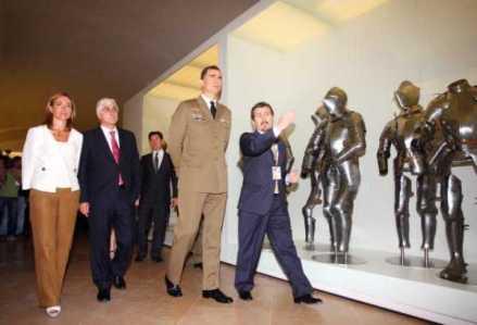 El Príncipe de Asturias inaugura el nuevo Museo del Ejército en Toledo. Foto: LaInformacion.com