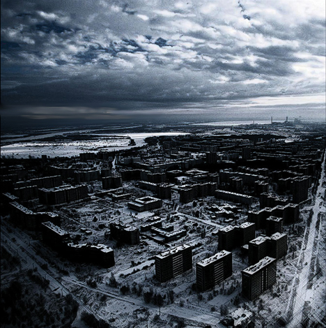 Vista aérea de la ciudad abandonada de Propyat, Ucrania. Foto: WebUrbanist