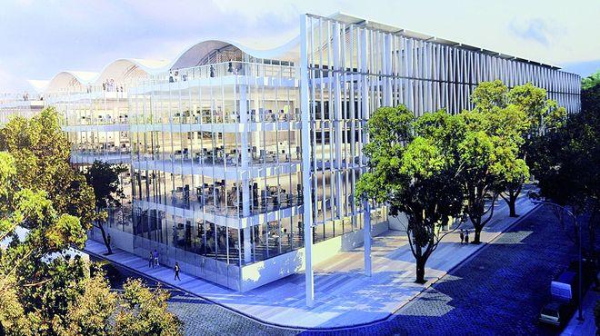 El edificio ecologico sera de cuatro plantas y cerca de 20.000 metros cuadrados. Foto: skyscraperpage.com