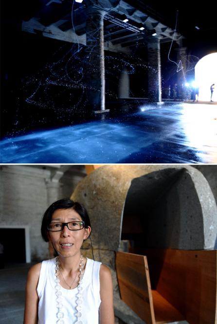 Las fuentes iluminadas de Olafur Eliasson, y la arquitecta japonesa Kazuyo Sejima.- EFE / AFP - ElPaís.es