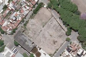 Vista aérea de la manzana donde se erigirá la nueva sede bancaria  Foto: Gentileza Banco Ciudad / LaNaciOnline