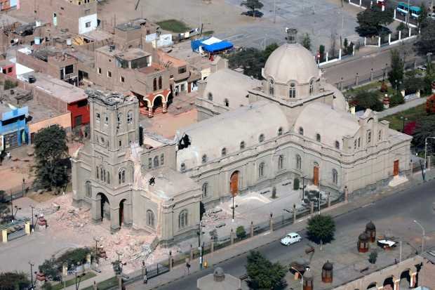 Vista Aérea Santuario Señor de Luren (Ica, Perú)