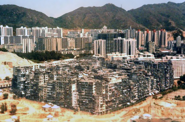 An aerial view of Kowloon Walled City in 1989 - Foto: Wikipedia