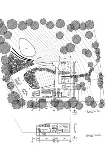 CASA WHITE O EN MARBELLA, CHILE - Toyo Ito. Incluimos también aquí la planta completa de la casa en la parcela y las secciones. di.globuscom.es