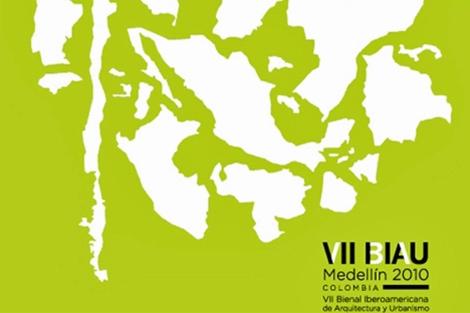 Cartel oficial de la Bienal de Arquitectura y Urbanismo (BIAU) de Medellín 2010. | ELMUNDO.es