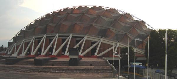 Palacio de los Deportes, Ciudad deportiva de la Magdalena Mixchuca, México. Wikipedia
