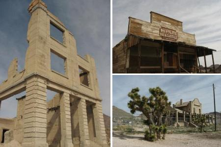 Rhyolite - Images by Ken Lund, licensed under CC-SA-2.0 - Urban Ghost Media