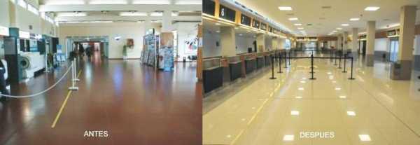 Aspecto interior del proyecto, antes (izquierda) y una vez ya remodelado (derecha)