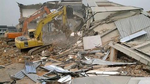 Imagen de la demolición que el propio Ai Weiwei ha colgado en Flickr - ABC.es