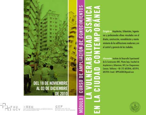 Afiche Oficial del CAC (IDEC y CEP - FAU - UCV)