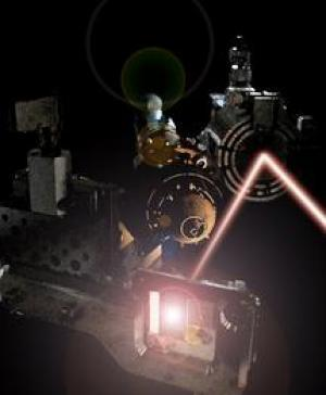 Experimental set-up at the FLASH laser used to discover the new state of matter. (Credit: Image courtesy of University of Oxford)