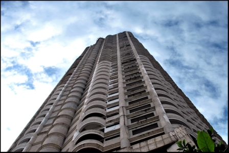 Sathorn Unique ghost tower in downtown Bangkok - RIDING OUT THE ECONOMY the adventure chronicle