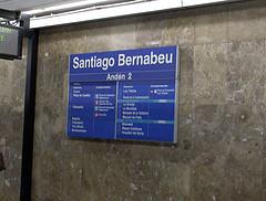 """Andén 2, Estación de Metro """"Santiago Bernabéu"""" - Madrid (Darío Álvarez, 2007)"""