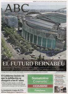 MEJORA EN EL ESTADIO. 'ABC' describió cómo sería el remodelado estadio madridista. AS.com