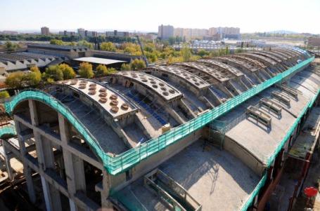 Obras en la antigua fábrica de ascensores Boetticher, en el distrito de Villaverde - www.espormadrid.es