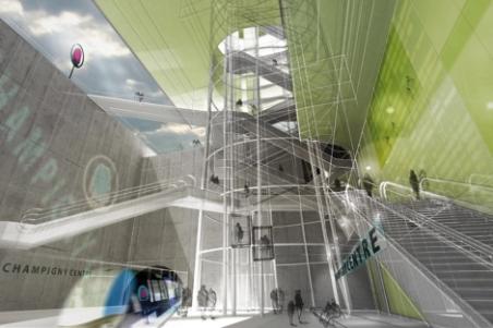 Diseño de la estación del nuevo metro parisino. | ELMUNDO.es