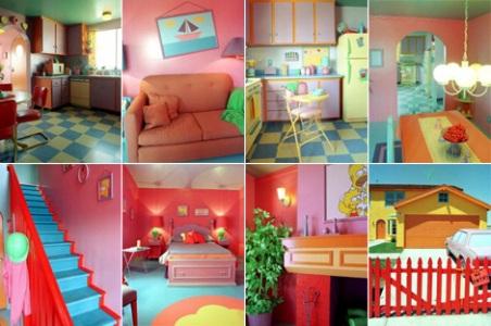Mosaico con habitaciones de la casa de los Simpson. ElMundo.es