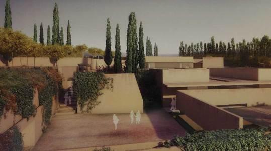 Recreación por ordenador del proyecto Puerta nueva, de Álvaro Siza y Juan Domingo Santos, que ha ganado el concurso internacional de ideas y se construirá en la Alhambra.- ElPais.com