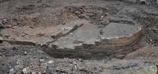 Imagen de parte de los restos celtibéricos hallados en la zona de la Rúa. ARCHIVO - La Gaceta de Salamanca