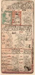 Página 9 del Códice de Dresde (de la edición de Förstermann, en 1880). Wikipedia