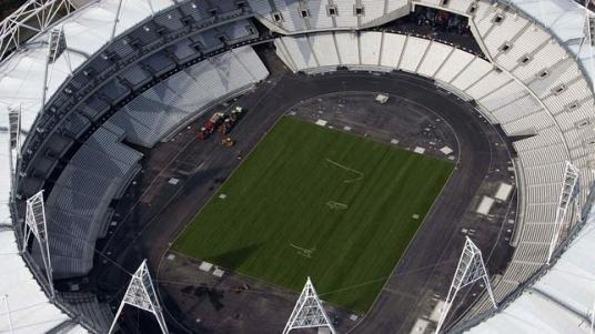 Imagen aérea del 24 de marzo del Estadio Olímpico de Londres - Foto: AP / EFE - ABC.es