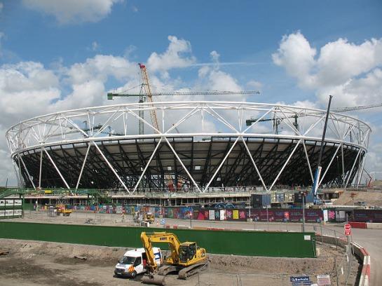 El estadio en construcción en mayo de 2009. Wikipedia